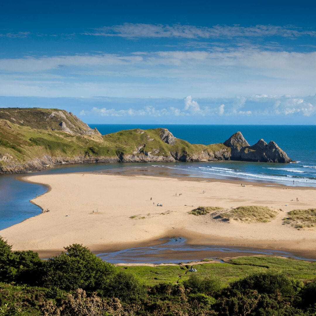 Discover local beaches when staying on the Bodnant Estate. Our self catering cottages are only a 10 minute drive from the beach!
